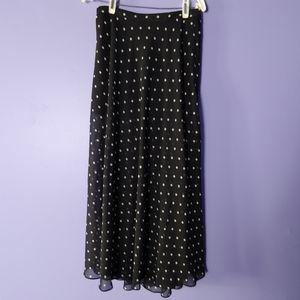 Dresses & Skirts - Forever21 sheer polka dot overlay skirt